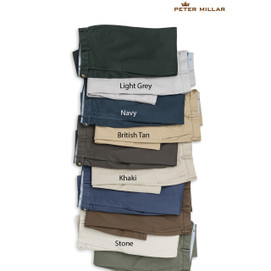 Peter Millar Soft Touch Twill Flat Front Pant - Light Grey