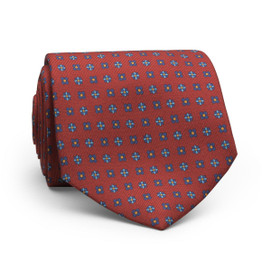 Peter Millar Multi Floral Neat Neck Tie - Red