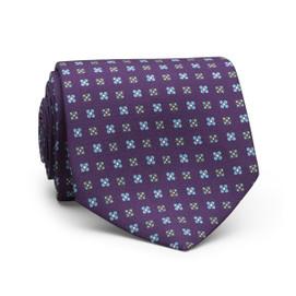 Peter Millar Multi Floral Neat Neck Tie - Purple