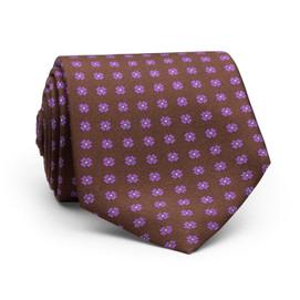 Peter Millar Flower Dot Neck Tie - Brown