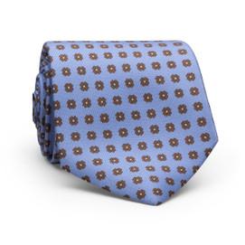 Peter Millar Flower Dot Neck Tie - Light Blue