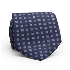 Peter Millar Flower Dot Neck Tie - Navy