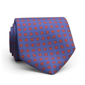 Peter Millar Flower Dot Neck Tie - Blue