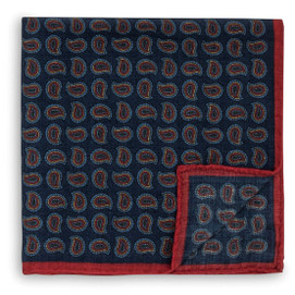 Peter Millar Autumn Paisley Print Pocket Square
