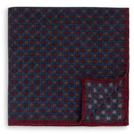 Peter Millar Circle Square Neat Pocket Square - Blue