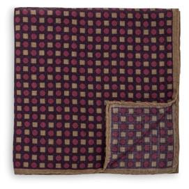 Peter Millar Circle Square Neat Pocket Square - Purple