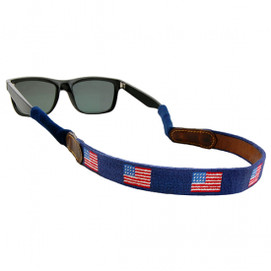 Smathers & Branson American Flag Needlepoint Sunglass Straps - Navy