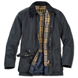 Barbour Ashby Waxed Cotton Jacket - Navy