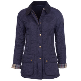 Barbour Women's Polarquilt Beadnell Jacket - Navy