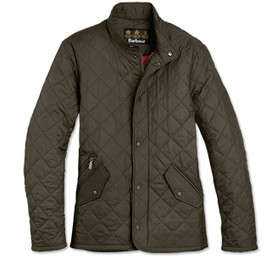 Barbour Flyweight Chelsea Quilt Jacket - Olive
