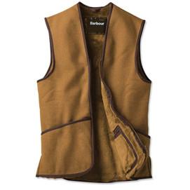 Barbour Warm Pile Waistcoat Zip-In Liner - Brown