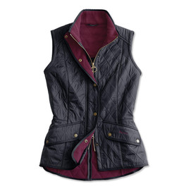 Barbour Women's Fleece Quilted Cavalry Gilet - Navy