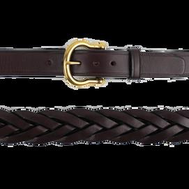 Over Under Saddle Braid Leather Belt