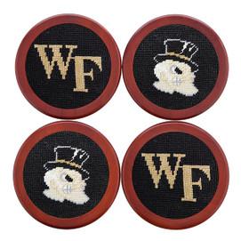 Smathers & Branson Wake Forest Needlepoint Coasters