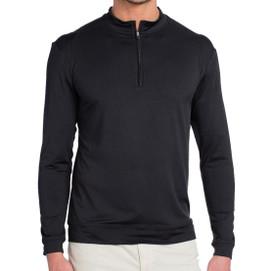 Johnnie-O Flex Prep-Formance 1/4 Zip Pullover - Black