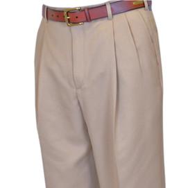Berle Microfiber Pleated Pants
