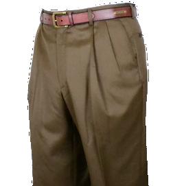 Berle Super 100's Gabardine Pleated Pants