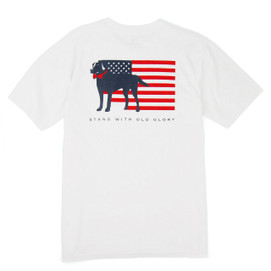 Southern Proper S/S Stand With Old Glory Tee - White