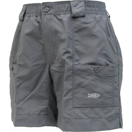 "Aftco Mens Original Fishing Shorts 8"" Long - Charcoal"