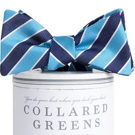 Collared Greens Charles Bow Tie - Aqua/Navy