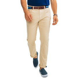 Southern Tide Harbor 5 Pocket Trim Fit Pants - Coastal Khaki