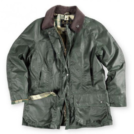 Barbour Women's Beadnell Waxed Cotton Jacket - Sage