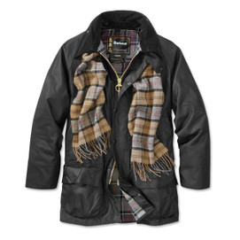 Barbour Beaufort Waxed Cotton Jacket - Black