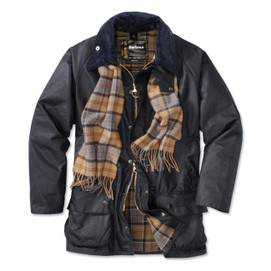 Barbour Beaufort Waxed Cotton Jacket - Navy