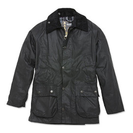Barbour Bedale Waxed Cotton Jacket - Black