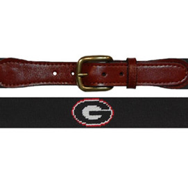 Smathers & Branson University of Georgia Needlepoint Belt - Black