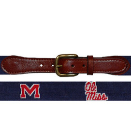 Smathers & Branson Ole Miss Needlepoint Belt