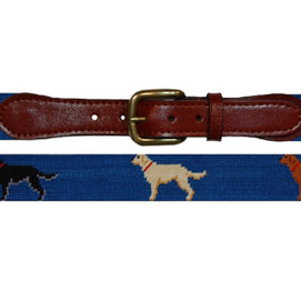 Smathers & Branson Labrador Retriever Needlepoint Belt