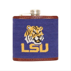 Smathers & Branson LSU Needlepoint Flask