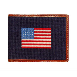 Smathers & Branson American Flag Needlepoint Wallet