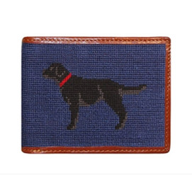 Smathers & Branson Black Lab Needlepoint Wallet
