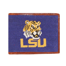Smathers & Branson LSU Needlepoint Wallet