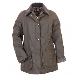 Barbour Women's Beadnell Waxed Cotton Jacket - Classic Olive