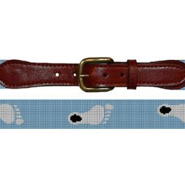 Smathers & Branson UNC Tar Heel Needlepoint Belt - Blue