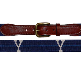 Smathers & Branson Yale University Needlepoint Belt