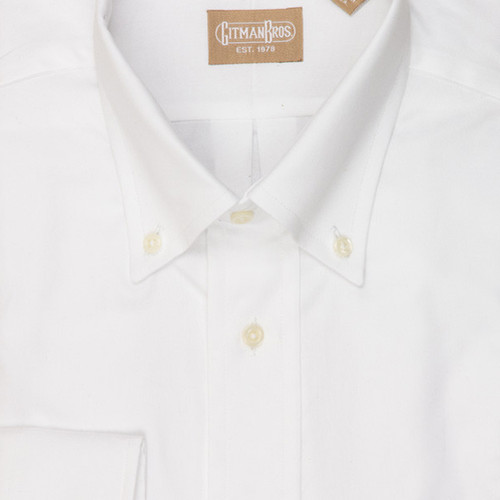 Gitman brothers pinpoint button down dress shirt white for Pinpoint button down dress shirt