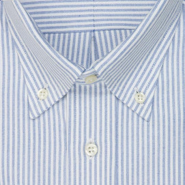 Gitman Brothers Cambridge Oxford Button Down Shirt - Blue Stripe
