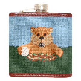 Smathers and Branson Caddyshack Needlepoint Flask