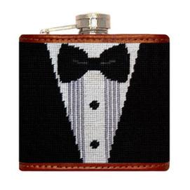 Smathers & Branson Black Tie Affair Needlepoint Flask