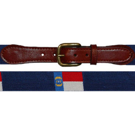 Smathers & Branson North Carolina Flag Needlepoint Belt