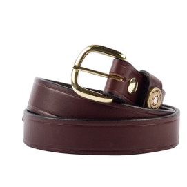 Over Under Cannon's Point Single Shot Leather Belt