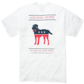 Southern Proper S/S Party Animal T-Shirt - White