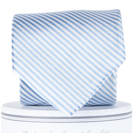 Collared Greens Signature Stripe Series Tie - Carolina Blue
