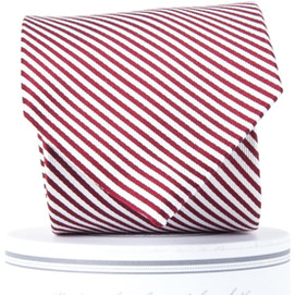 Collared Greens Signature Stripe Series Tie - Maroon