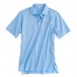 Peter Millar UNC Cotton Solid Polo - Tarheel Blue