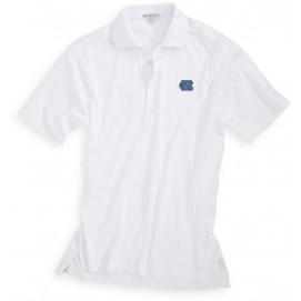 Peter Millar UNC Cotton Solid Polo - White